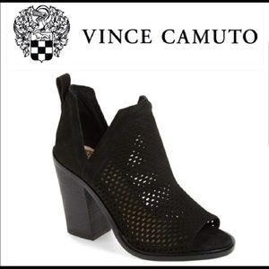 Vince Camuto Kensa Peep Toe Bootie Size 7.5